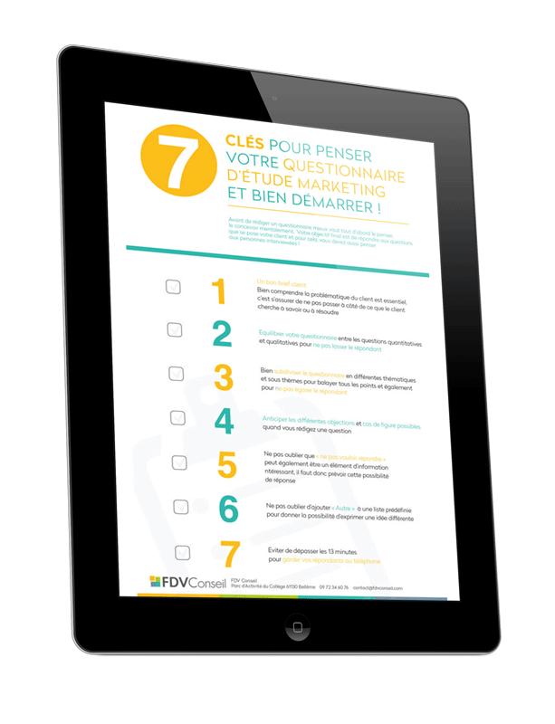 7 clés pour penser votre questionnaire d'étude Marketing