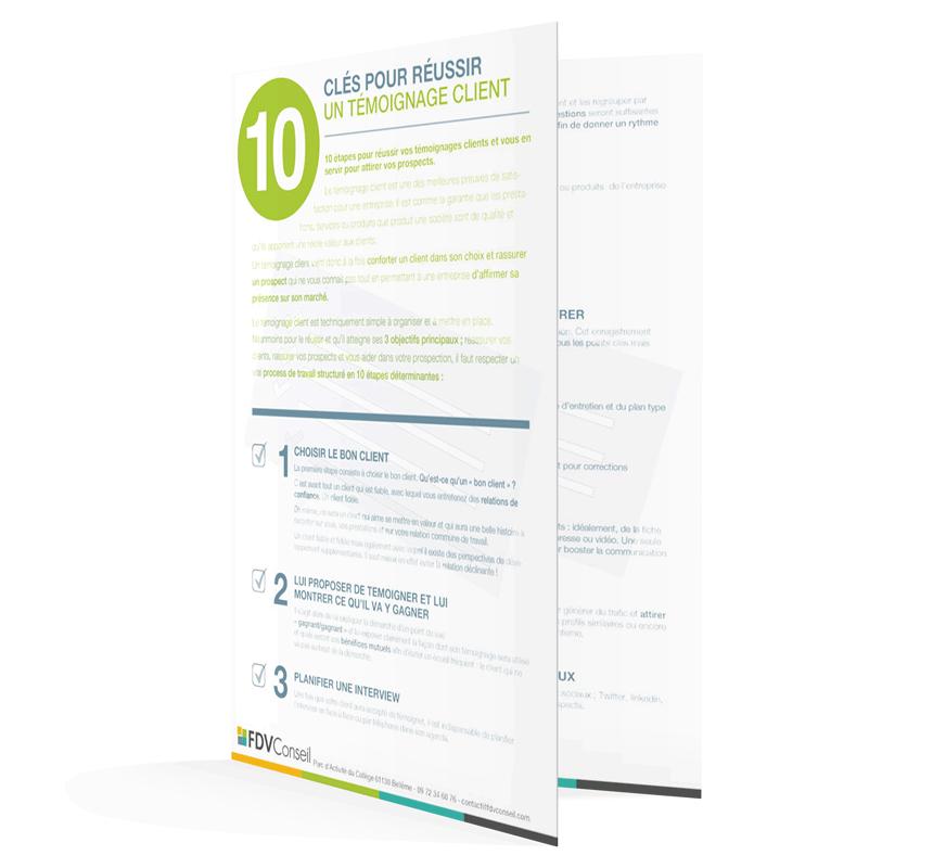 Fiche pratique 10 clés pour réussir son témoignage client